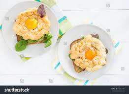 healthy breakfast wholemeal bread toast cloud stock photo