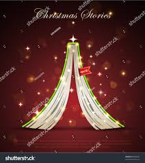 Upside Down Christmas Tree Creative Christmas Tree Formed Open Upside Stock Vector 90068395