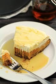 layered maple pumpkin cheesecake pie frugal eh