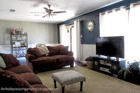 navy accent wall living room home decorating ideas 2016 2017