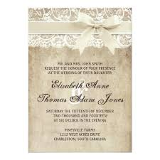 vintage lace wedding invitations vintage elegance ribbon on lace wedding invitation zazzle