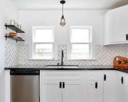 Herringbone Subway Tile Kitchen Backsplash - Herringbone tile backsplash
