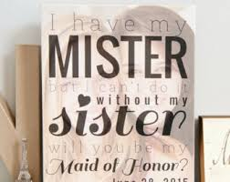 asking of honor ideas wall etsy