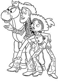 jessie sheriff woody toy story coloring pages