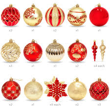handcrafted luxury collection set of 40 ornaments