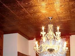 crystal home decor ceiling how to install glue up faux tin ceiling tiles 6 steps