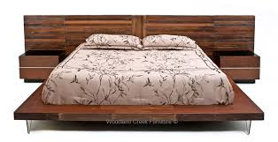Wood Platform Bed Custom Made Platform Bed Reclaimed Wood Repurposed