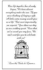 Wedding Gift Money Poem Wedding Invitation Asking For Money Paperinvite