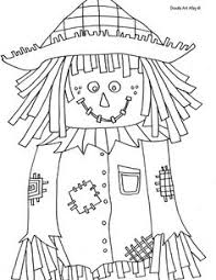 free printable scarecrow coloring kids scarecrows rock