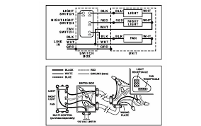 bathroom fan wiring exhaust motor diagram how to wire a with light