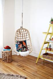 wicker chair for bedroom we hung a chair and it s awesome a beautiful mess