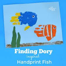 finding dory handprint craft
