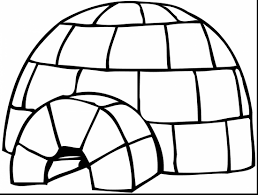 brilliant pingu coloring page with igloo coloring page