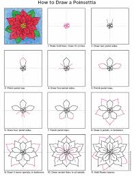 poinsettia flowers art projects for kids