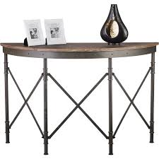 half round console table antique half round hall table w rustic wood top buy console tables
