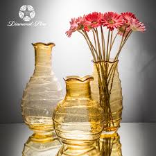Yellow Glass Vase Tall Hand Blown Color Glass Vases Tall Hand Blown Color Glass