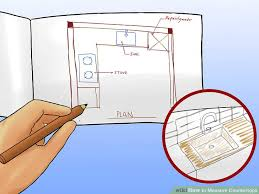 How To Calculate Linear Feet For Kitchen Cabinets 4 Ways To Measure Countertops Wikihow