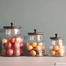 bocaux cuisine série de trois bocaux de cuisine decoration rétro boutique cosy deco