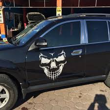 jeep decal with bow 50 57cm black white skull head decal machine cover hood sticker
