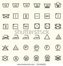 laundry line design set textile care sign laundry care stock vector 374468029 shutterstock