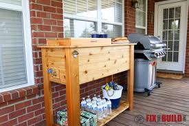 Diy Decks And Patios How To Build A Patio Cooler And Grill Cart Combo Fixthisbuildthat