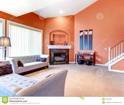 orange and grey living room home design ideas