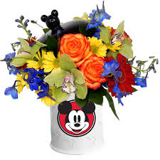 jar flowers mickey mouse cookie jar bouquet