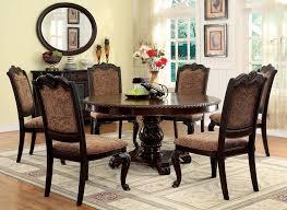 wood dining table kmart com set kitchen furniture of america brown