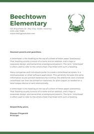 black and white header welcome letter to students