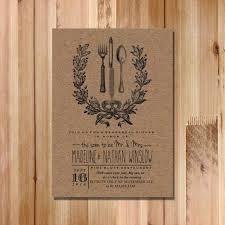 Dinner Invitation Wedding Rehearsal Dinner Invitation Vintage Inspired Rustic