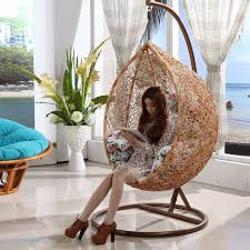 2016 new design rattan wicker hanging cane swing chair for sale