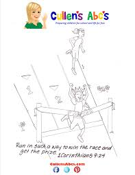 bible key point coloring page run the race online preschool