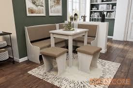 Kitchen Nook Furniture Set Texas Kitchen Nook White Oak Fabric Beige Kitchen Nook