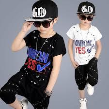 2017 new model summer children boy clothing sets streetwear