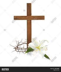 cross crown thorns easter white image photo bigstock