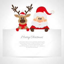 santa claus and reindeer greeting card stock vector osipovdim