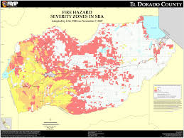 California Zip Code by Cal Fire El Dorado County Fhsz Map