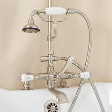 Bathtub To Shower Conversion Kit English Rim Mount Conversion Kit With Hand Shower Porcelain