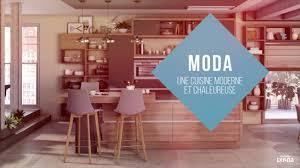 cuisine chaleureuse contemporaine gamme moda la cuisine équipée contemporaine et chaleureuse