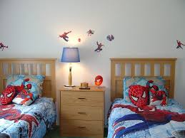 White Wall Decals For Bedroom Superhero Themes Twin Bedroom Sets With Amazing Spiderman Wall
