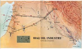 Iraq World Map by Iraq Oil Industry Operations 1953 Full Size
