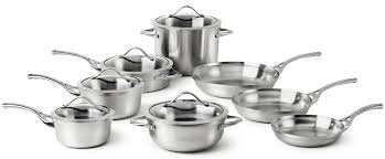 Stainless Steel Kitchen Set by Calphalon Contemporary Stainless 13 Pc Cookware Set Review 2017
