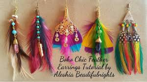 how to make feather earrings with boho chic feather earrings tutorial