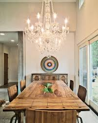 Rustic Dining Room Chandeliers by Lovely Decorating With Chandeliers Rustic Dining Table Ideas In