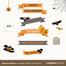 happy halloween banner clipart halloween ribbon clipart clipartxtras