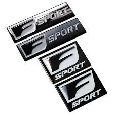 lexus symbol aliexpress com buy f sport 3d metal badge decal rear trunk