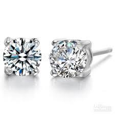 silver diamond earrings 2018 de016 925 sterling silver swiss diamond earrings from gxfc3