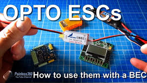 how to connect opto escs and a bec to you multirotor kk2 0 or mwc