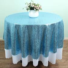 themed table cloth 72 light blue sequin tablecloths table linens overlays