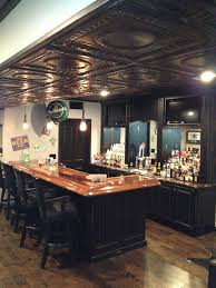 Ideas For Drop Ceilings In Basements Basement Pub Dig The Ceilings Fix Rehab Ideas For Next New
